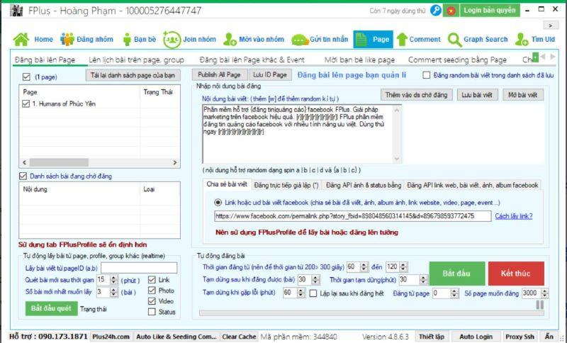 Phần mềm đăng tin Fplus miễn phí vĩnh viễn