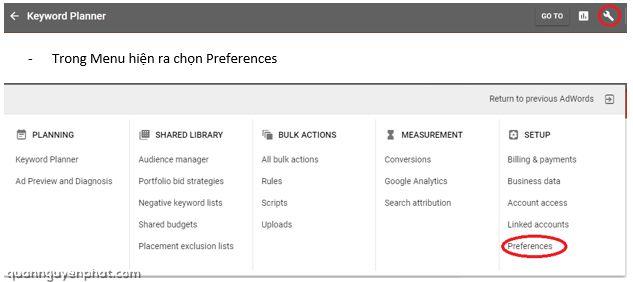 Hướng dẫn sử dụng Google Keywords Planner cho người mới