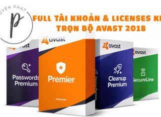 Share Key - Account premium trọn gói Avast Utimate, Premier, VPN, Internet Secutity, Clean Up
