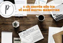 5 lời khuyên dành cho người mới vào nghề marketing