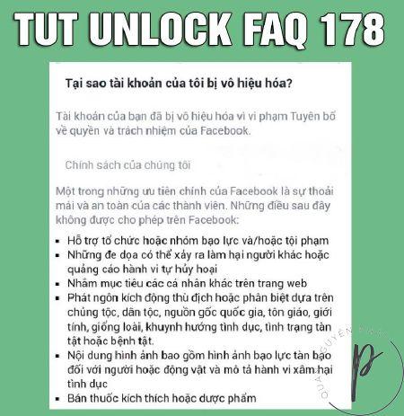 Thủ thuật Facebook: Tut Unlock tài khoản Facebook 178 - FAQ Phản Động, Tội Phạm