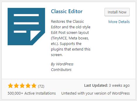 Cách quay lại trình soạn thảo cũ thân thuộc khi update lên WordPress 5.0