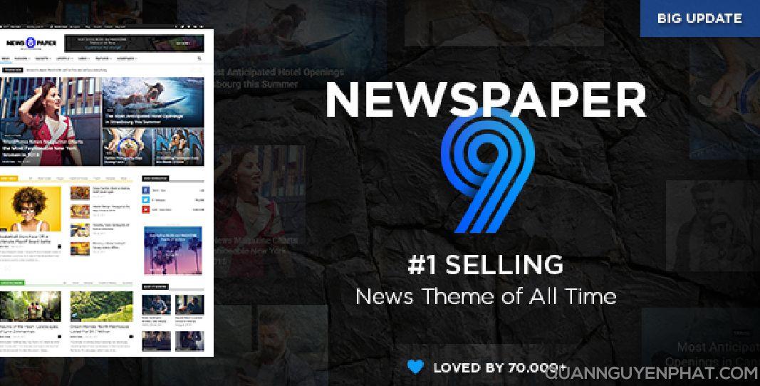 Share theme WordPress Newspaper mới nhất kèm hướng dẫn kích hoạt