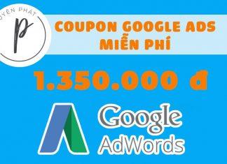 Hướng dẫn nhận Coupon/Mã khuyến mại 1.350.000₫ Google Adwords chạy Ads
