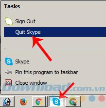 Quit Skype
