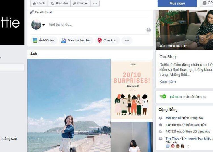 Phân tích shop thời trang online Dottie trên Fanpage Facebook
