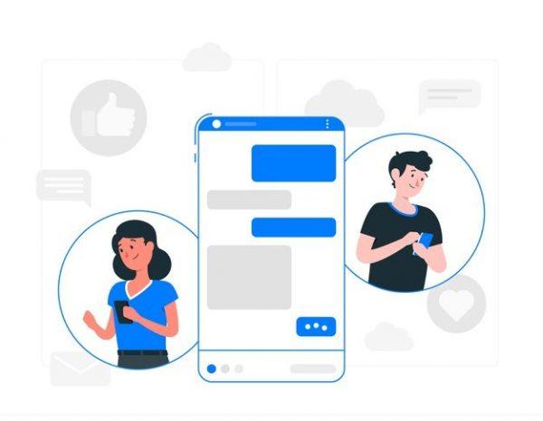 Messenger concept illustration Free Vector